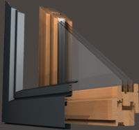 Fenêtre bois - alu 80 mm: Fenêtre bois - alu 80 mm