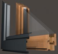 Fenêtre bois - alu 80 mm passif: Fenêtre bois - alu 80 mm passif